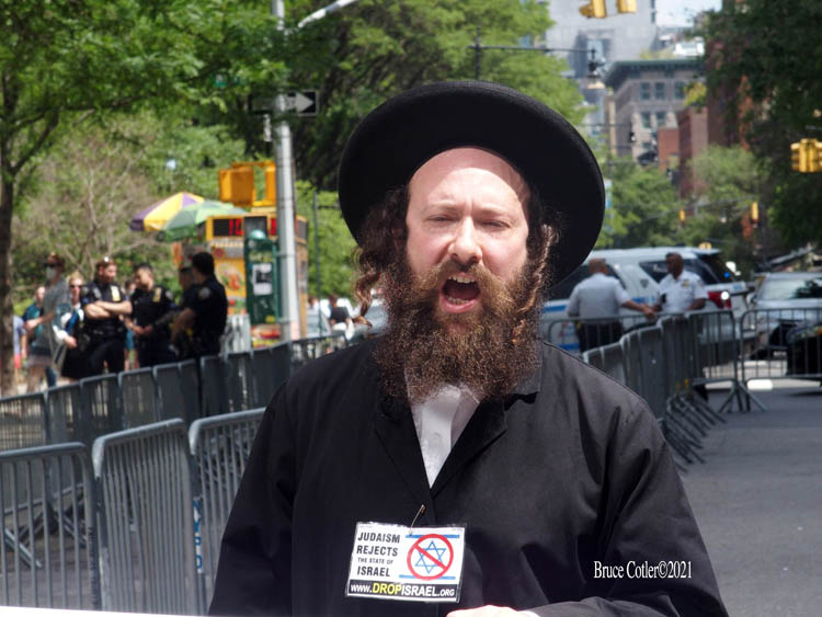 Pro- Israel Rally and Counter Anti- Israel Protest in Manhattan