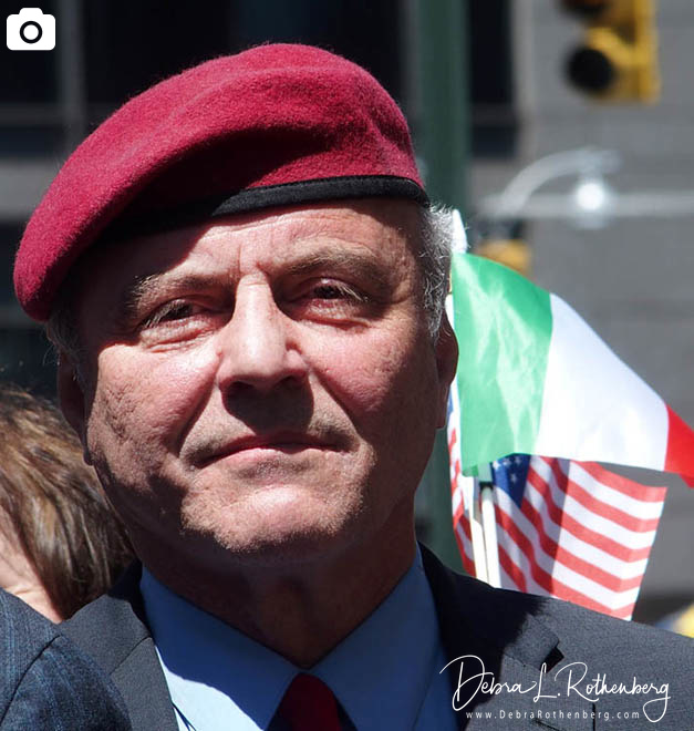 Italian-American Community Group Demonstration in Columbus Circle with Curtis Sliwa and Joe Piscopo