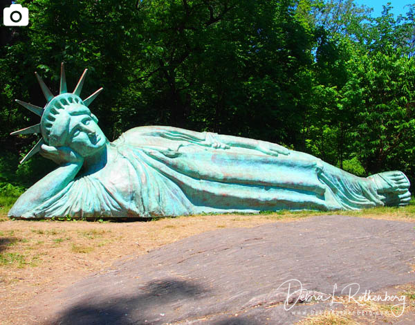 """""""Reclining Liberty"""" Statue in Morningside Park"""