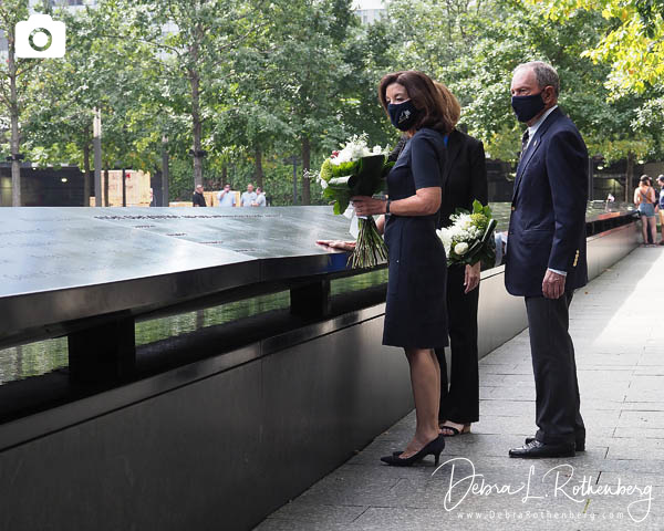 Governor Hochul and Former NYC Mayor Michael Bloomberg Pay Respects At 9/11 Memorial & Museum
