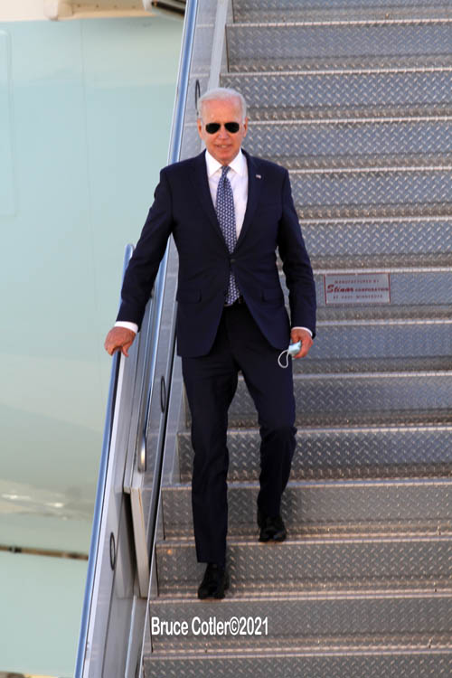 President Biden Arrives At JFK Airport
