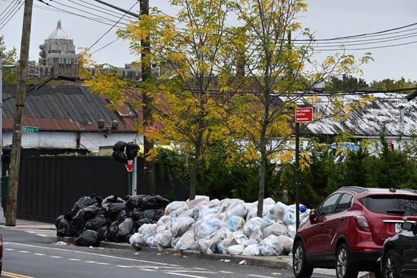 Garbage Piling Up-Staten Island, NY
