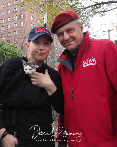 Mayoral Candidate Curtis Sliwa Joins His wife and Upper West Side City Council Republican Candidate Nancy Sliwa for Early Voting